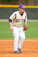 Western Carolina Catamounts third baseman Tyler White (20) on defense against the Davidson Wildcats at Wilson Field on March 10, 2013 in Davidson, North Carolina.  The Catamounts defeated the Wildcats 5-2.  (Brian Westerholt/Four Seam Images)