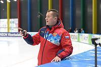 SPEEDSKATING: 22-11-2019 Tomaszów Mazowiecki (POL), ISU World Cup Arena Lodowa, Pawel Abratkiewicz (trainer/coach RUS), ©photo Martin de Jong