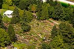 Aerial of the International Rose Test Garden, Washington Park, Portland, Oregon