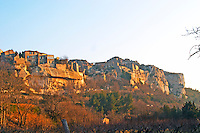 The hilltop cliff village of Les Baux de Provence, Bouche du Rhone, France