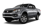 Stock pictures of low aggressive front three quarter view of 2017 Fiat Fullback Sport Pack 4 Door Pick Up
