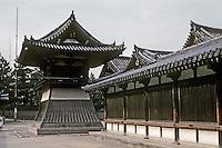 Nara: Horyuji, To-in Garan or East Minster, Wall. Photo '82.