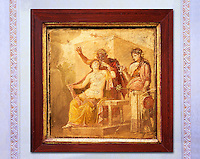 1 cent AD Roman Erotic  fresco from a house in Pompeii. Naples Archaological Museum inv no 27875