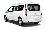 Car pictures of rear three quarter view of 2016 Ford Transit-Connect XLT-LWB 5 Door mini MPV Angular Rear