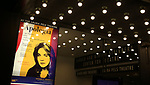 """Theatre Marquee for the Broadway Opening Night for the Roundabout Theatre Company production of """"Apologia"""" on October 16, 2018 at the Laura Pels Theatre in New York City."""