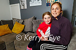Trica Moran with her daughter Lexi Keane at home on Monday as Trica is doing a fundraising walk for Pieta House for the month of February