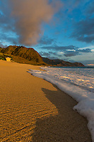 The beautiful coastline of West O'ahu, as seen at sunset.