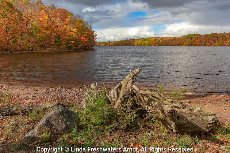 The Chippewa Flowage on a pretty autumn day.