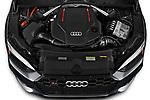 Car Stock 2021 Audi S5-Sportback Premium-Plus 5 Door Hatchback Engine  high angle detail view