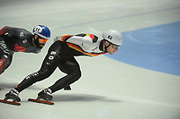 SPEEDSKATING: DORDRECHT: 05-03-2021, ISU World Short Track Speedskating Championships, QF 1500m Men, Adrian Luedtke (GER), Steven Dubois (CAN), ©photo Martin de Jong
