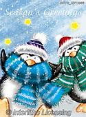 Alfredo, CHRISTMAS ANIMALS, WEIHNACHTEN TIERE, NAVIDAD ANIMALES, paintings+++++,BRTOXX12332,#xa# ,penguin,penguins