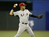 March 8, 2009:  Shortstop Derek Jeter (2) of Team USA during the first round of the World Baseball Classic at the Rogers Centre in Toronto, Ontario, Canada.  Team USA defeated Venezuela  15-6 to secure a spot in the second round of the tournament.  Photo by:  Mike Janes/Four Seam Images