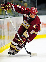 9 January 2009: Boston College Eagles' defenseman Anthony Aiello, a Senior from Braintree, MA, in action during the first game of a weekend series against the University of Vermont Catamounts at Gutterson Fieldhouse in Burlington, Vermont. The Catamounts scored with one second remaining in regulation time to earn a 3-3 tie with the visiting Eagles. Mandatory Photo Credit: Ed Wolfstein Photo