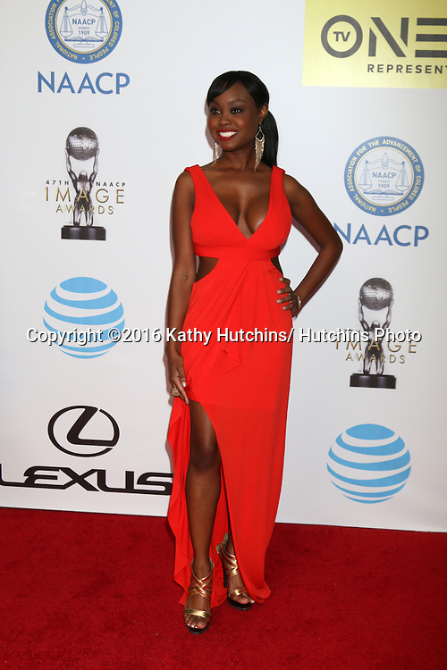 LOS ANGELES - FEB 5:  Melissa Strong at the 47TH NAACP Image Awards Arrivals at the Pasadena Civic Auditorium on February 5, 2016 in Pasadena, CA