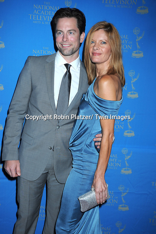 Michael Muhney and Michelle Stafford attending The 38th Annual Creative Arts Emmy Awards on June 17, 2011 at The Westin Bonaventure Hotel in Los Angeles in California.