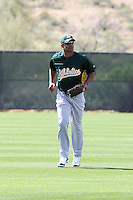 Michael Taylor. Oakland Athletics spring training workouts at the Athletics complex, Phoenix, AZ - 02/25/2010 & 02/26/2010.Photo by:  Bill Mitchell/Four Seam Images.
