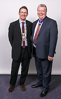Alan Radford, President of the Nottinghamshire Law Society with Vice President Michael Auty QC