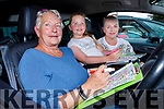 Betty, Abigail and Marion Walsh from Castleisland enjoying the Drive In Bingo in Castleisland on Sunday.