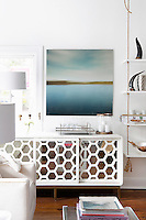 modern white cabinet Get A Room is a boutique in Scarsdale New York for interior design.