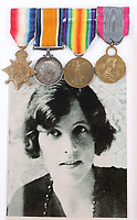 BNPS.co.uk (01202) 558833<br /> Pic: C&TAuctions/BNPS<br /> <br /> The medals of a patriotic countess who swapped a life of luxury for a World War One field hospital have emerged for sale for £3,000.<br /> <br /> Vera Bayley, Countess of Rosslyn, was a member of high society often in the press due to her marriage to the 5th Earl of Rosslyn.<br /> <br /> But, at the outbreak of war, she answered her nation's call, travelling to France to care for the rapidly increasing number of battlefield casualties.<br /> <br /> She helped set up a 100-bed hospital at Malo les Bains, officially known as No 9 Red Cross Hospital, and later joined the Millicent Sutherland Ambulance at Calais.<br /> <br /> Vera also volunteered for service during World War Two, enrolling as an ambulance driver. Her medals, which include the Belgian Medaille De La Reine Elisabeth, are going under the hammer with C & T Auctions, of Ashford, Kent.