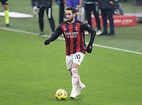 Milano  05-12-2020<br /> Stadio Giuseppe Meazza<br /> Campionato Serie A Tim 2020/21<br /> Milan - parma<br /> nella foto:  Hakan Calhanoglu                                                        <br /> Antonio Saia Kines Milano