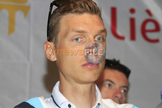 Tony Martin (GER) at the Omega Pharma-Quick Step Team press conference in the Country Hall, Liege, Belgium before the 2012 Tour de France, Liege, Belgium. 28th June 2012.<br /> (Photo by Eoin Clarke/NEWSFILE)