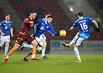 St Johnstone v Motherwell…15.12.18…   McDiarmid Park    SPFL<br />Tony Watt holds off Tom Aldred<br />Picture by Graeme Hart. <br />Copyright Perthshire Picture Agency<br />Tel: 01738 623350  Mobile: 07990 594431