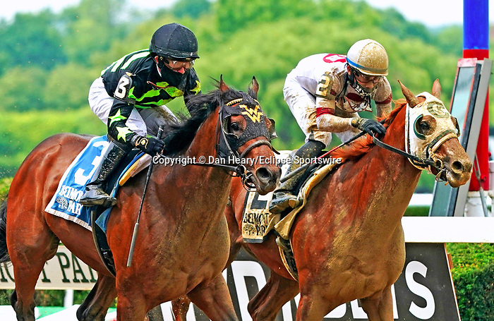 JUNE 04, 2021 : Overbore with Joel Rosario aboard, wins the Tremont Stakes, for 2-year olds at 5 1/2 furlongs, at Belmont Park, Elmont, NY.Dan Heary-Eclipse Sportswire-CSM