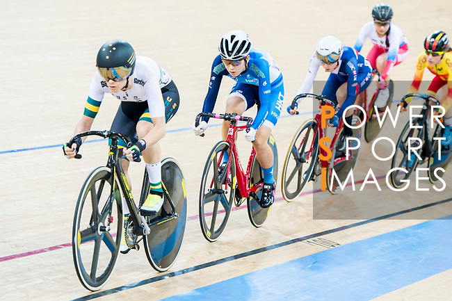 Amy Cure of Australia competes in the Women's Points Race 25 km Final during the 2017 UCI Track Cycling World Championships on 16 April 2017, in Hong Kong Velodrome, Hong Kong, China. Photo by Marcio Rodrigo Machado / Power Sport Images