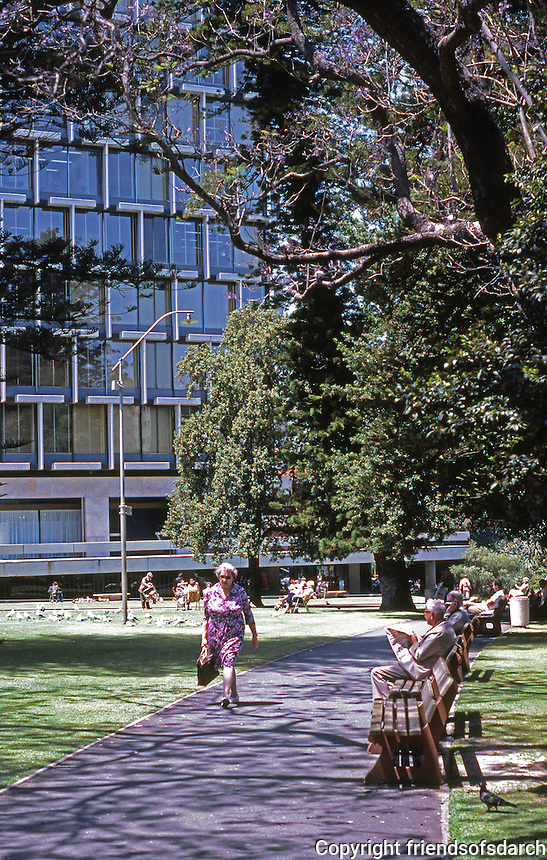Perth: Supreme Court Gardens. Council House in background. Photo '82.