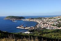Blick auf Horta auf der Insel Faial, Azoren, Portugal
