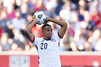 SANDY, UT - JUNE 10: Reggie Cannon #20 of the United States during a game between Costa Rica and USMNT at Rio Tinto Stadium on June 10, 2021 in Sandy, Utah.