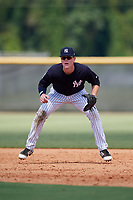 New York Yankees first baseman Eric Wagaman (16) during a Florida Instructional League game against the Pittsburgh Pirates on September 25, 2018 at Yankee Complex in Tampa, Florida.  (Mike Janes/Four Seam Images)