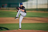 Missoula Osprey relief pitcher Nick Marchese (39) during a Pioneer League game against the Great Falls Voyagers at Centene Stadium at Legion Park on August 19, 2019 in Great Falls, Montana. Missoula defeated Great Falls 4-1 in the first game of a doubleheader. Games were moved from Missoula after Ogren Park at Allegiance Field, the Osprey's home field, was ruled unplayable. (Zachary Lucy/Four Seam Images)