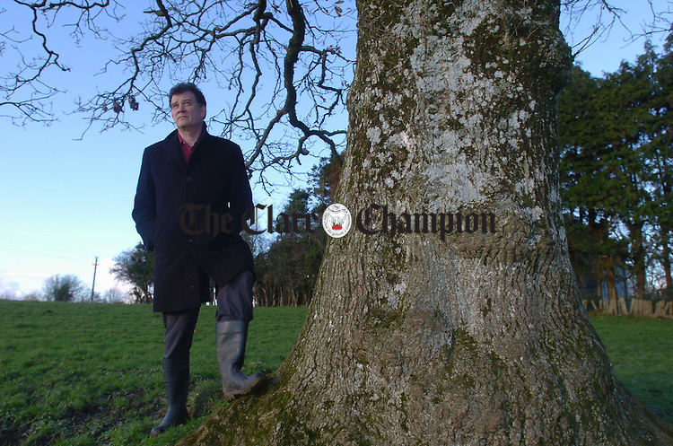 Writer Carlo Gébler takes time out on his aunt's farm in Tuamgraney. Photograph by John Kelly.