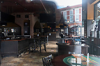 The Cask 'n Flagon bar and restaurant, located across the street from Fenway Park, is temporarily closed during the ongoing Coronavirus (COVID-19) global pandemic in Boston, Massachusetts, seen here on Wed., Jan. 6, 2021.