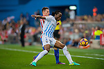 Bakary Kone (r) of Malaga CF battles for the ball with Kevin Gameiro of Club Atletico de Madrid during their La Liga match between Club Atletico de Madrid and Malaga CF at the Estadio Vicente Calderón on 29 October 2016 in Madrid, Spain. Photo by Diego Gonzalez Souto / Power Sport Images