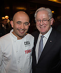 27 October 2015, Chennai, India : Celebrity Chef Adam D'Silva with Andrew Robb, AO, Minister for Trade and Investment at  a reception for Australian World Orchestra during his visit to India. Picture by Graham Crouch/DFAT