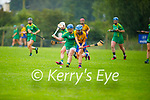 All eyes on the sliotar as Kerry's Jackie Horgan and Clare's Emma Kennedy tussle for possession in the Munster Junior Camogie final