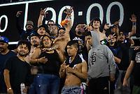 SAN JOSE, CA - SEPTEMBER 4: San Jose Ultras after a game between Colorado Rapids and San Jose Earthquakes at PayPal Park on September 4, 2021 in San Jose, California.