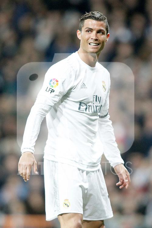 Real Madrid's Cristiano Ronaldo during La Liga match. March 20,2016. (ALTERPHOTOS/Acero)
