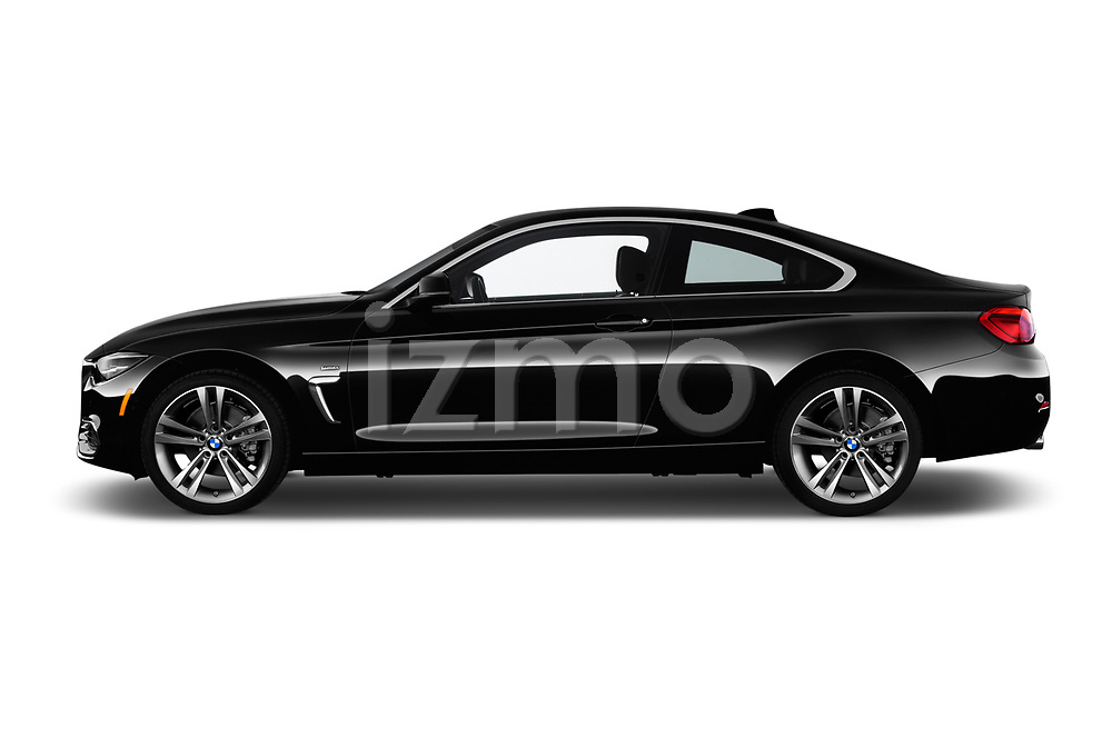 Car driver side profile view of a 2020 BMW 4 Series 430i Coupe 2 Door Coupe