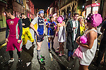© Joel Goodman - 07973 332324 . 27/12/2015 . Wigan , UK . Revellers in Wigan enjoy Boxing Day drinks and clubbing in Wigan Wallgate . In recent years a tradition has been established in which put on fancy dress for a Boxing Day night out . Photo credit : Joel Goodman