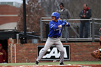 ELON, NC - FEBRUARY 28: Dominic Cusumano #8 of Indiana State University waits for a pitch during a game between Indiana State and Elon at Walter C. Latham Park on February 28, 2020 in Elon, North Carolina.