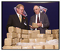 21st Oct 99                      Copyright Pic : James Stewart .Ref :                           .File Name : stewart04-drugs conference                        .DONALD DEWAR AND WILLIAM ROBERTSON WITH THE BATCH OF FAKE DRUGS AT THE ASSOCIATION OF CHIEF POLICE OFFICERS SCOTTISH DRUGS CONFERENCE AT THE DUNBLANE HYDRO HOTEL......Payments to :-.James Stewart Photo Agency, Stewart House, Stewart Road, Falkirk. FK2 7AS      Vat Reg No. 607 6932 25.Office : +44 (0) 1324 630007        Mobile : 07721 416997.Fax     : +44 (0) 1324 630007.E-mail : jim@jspa.co.uk.If you require further information then contact Jim Stewart on any of the numbers above.........