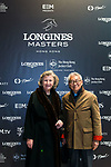 Guests pose for photos during the Longines Masters of Hong Kong at AsiaWorld-Expo on 10 February 2018, in Hong Kong, Hong Kong. Photo by Christopher Palma / Power Sport Images