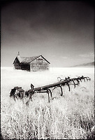 Abandoned barn and farm equipment<br />