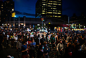 Brooklyn, New York<br /> June 1, 2020<br /> Barclays Center<br /> <br /> Barclay's Center, demonstrators outraged over the wrongful death of George Floyd at the hands of the police in Minneapolis, Minnesota confront New York police.