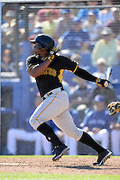Outfielder Carlos Mesa (36) of the Pittsburgh Pirates during a spring training game against the Toronto Blue Jays on February 28, 2014 at Florida Auto Exchange Stadium in Dunedin, Florida.  Toronto defeated Pittsburgh 4-2.  (Mike Janes/Four Seam Images)