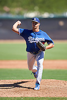 Los Angeles Dodgers pitcher Alec Grosser (67) during an Instructional League game against the Cleveland Indians on October 10, 2016 at the Camelback Ranch Complex in Glendale, Arizona.  (Mike Janes/Four Seam Images)